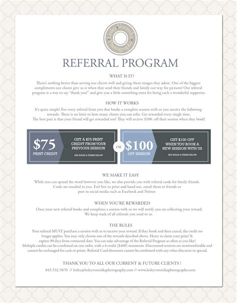 photography referral card templates photography referral program lesley veronika photography lesley veronika photography
