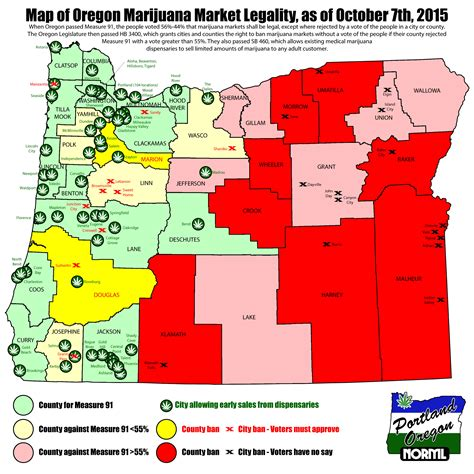 map of oregon dispensaries hempyreum org how statewide marijuana legalization in