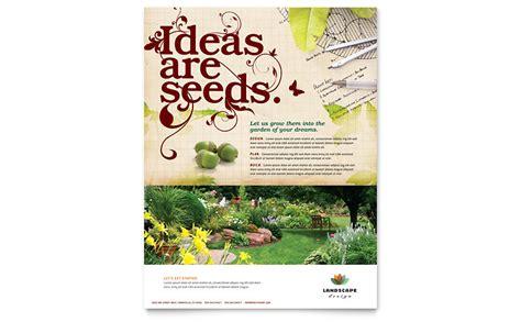 Landscape Design Software Microsoft Landscape Design Flyer Template Word Publisher