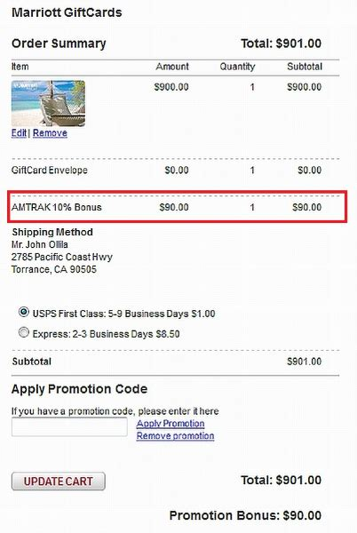 Marriott Gift Card Promo Code - 10 bonus 5 cashback for buying marriott gift cards loyaltylobby part 25673