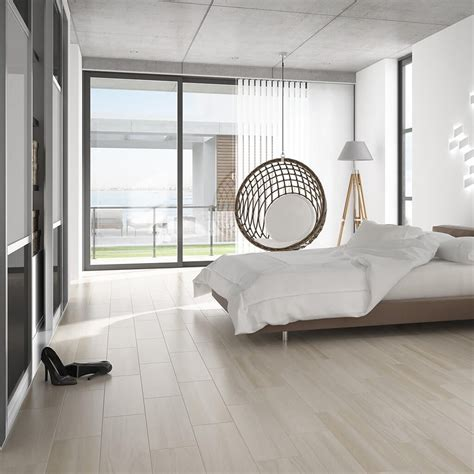 modern bedroom tiles wood effect floor tiles in a subtle cream shade