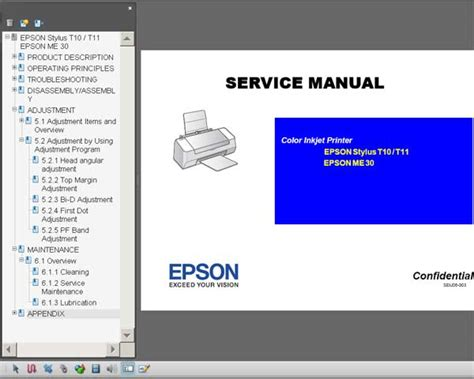resetter epson t11 manual epson t10 t11 me30 printers service manual new