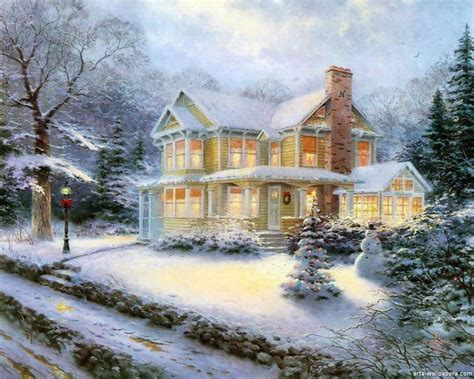 free wallpaper village thomas kinkade christmas village wallpaper best cool