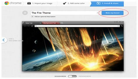 chrome theme name how to create your own custom chrome themes using my