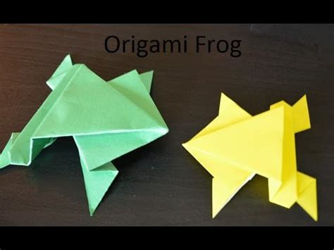 How To Make A Frog Using Paper - how to make a paper frog with easy steps