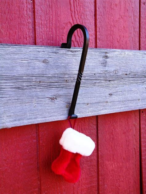fireplace mantle christmas stocking hanger scrolled end