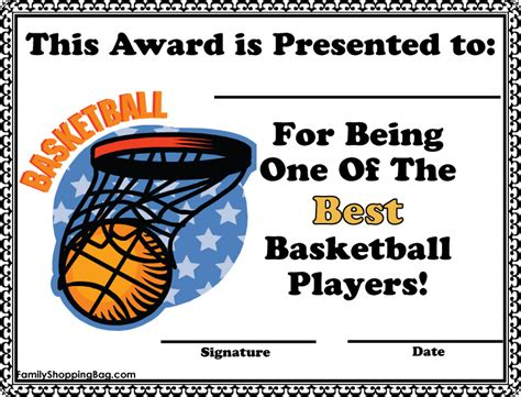 free basketball certificate templates dltk printable awards with images frompo