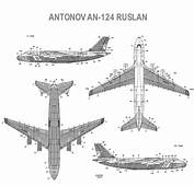 Antonov An 124 Ruslan Blueprint  Download Free