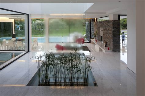 waterfall indoor water feature modern house in pilar