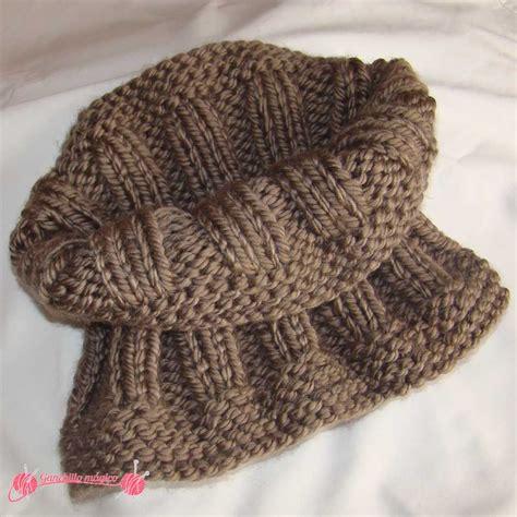 gorros tejidos a dos agujas faciles cuellos f 225 ciles en punto 1 caramelo gorros hat