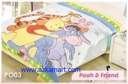 Selimut Soft Panel Winnie The Pooh distributor selimut toko selimut sprei bedcover murah