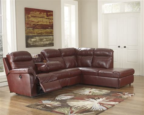 ashley furniture leather chaise 1780017 ashley furniture primematic durablendreg crimson