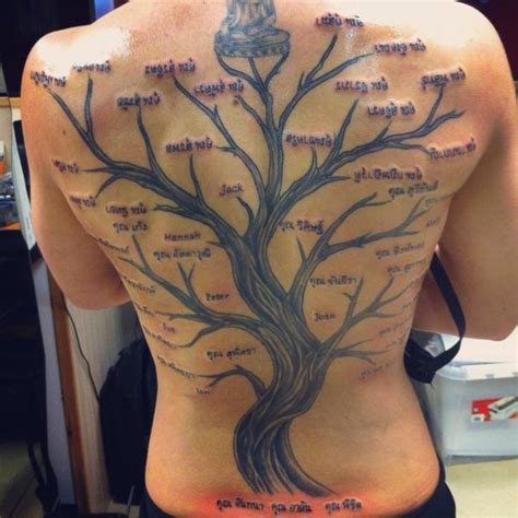 tattoo family tree back lanchana green on twitter quot my family tree tattoo sore