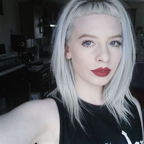 micro bangs short hair white hair micro bangs my hair inspo pinterest