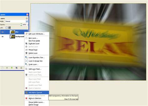 online tutorial gimp blur effect