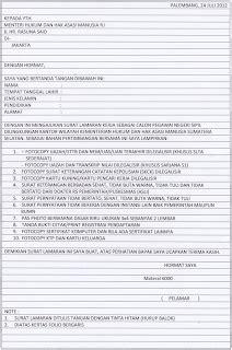 Contoh Surat Izin Tidak Masuk Kerja Karena Kepentingan Keluarga by Contoh Surat Lamaran Versi Indonesia Contoh 37