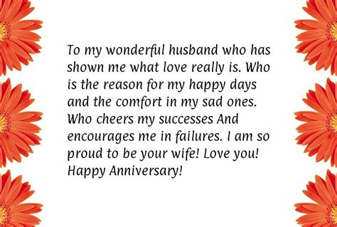 Wedding Anniversary Wishes Husband To by Happy Anniversary Message For Husband