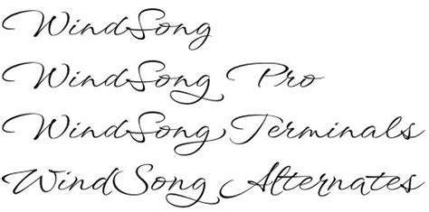 Tattoo Font Generator Windsong | windsong font family feel the wind blow in your script