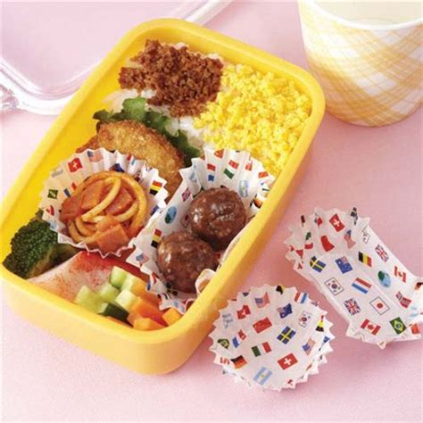 Bento Oval Sekat 4 and oval flag bento lunch box paper cups from japan bento accessories bento boxes shop