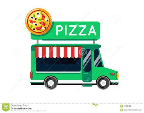pizza food truck design mobile food car vector cartoon vector cartoondealer com