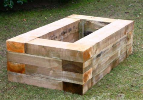 wooden planter boxes  gardens  patios