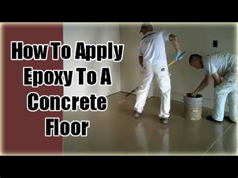Applying Garage Floor Epoxy Coatings (Part 3)   YouTube