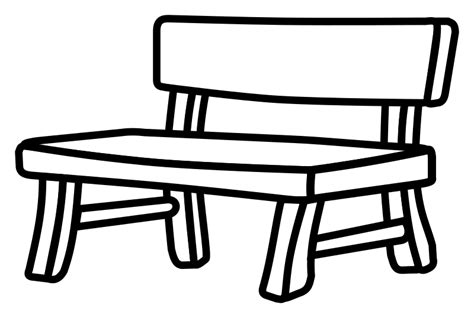 bench outline clipart bench lineart