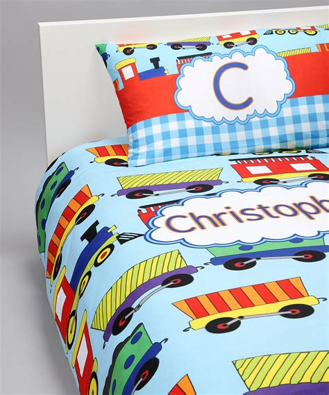 train bedding set trains duvet cover set personalized baby n toddler