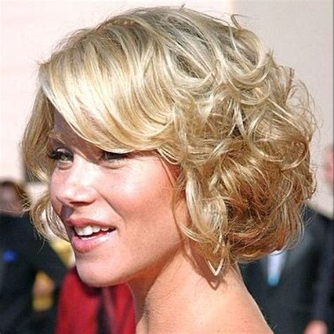 swoop bangs with short curly hair side swept bangs with curls curly bob with side swept