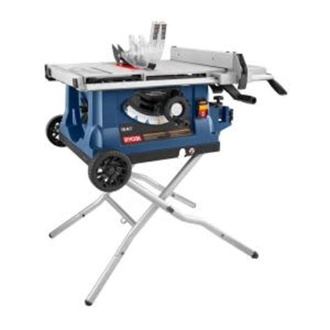 home depot portable table saw ryobi 10 in table saw with wheeled stand rts31 the home