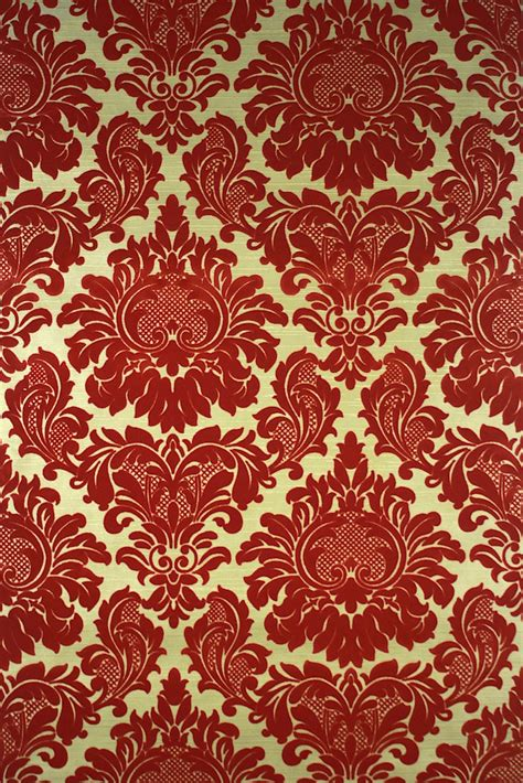 gold victorian wallpaper red flocked on gold vintage wallpaperimg 8511 523 of
