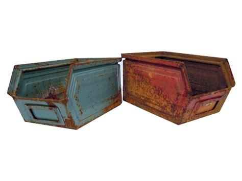 alte lagerkiste metallkiste industrie design deko vintage - Industrie Deko