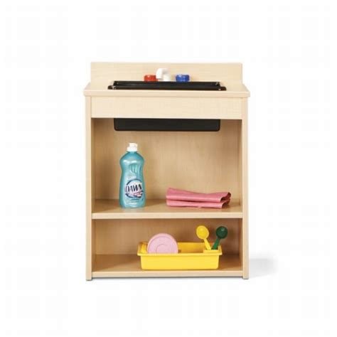 time furniture wooden play kitchen sink 7082yt441