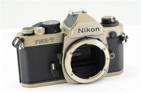 nikon fm2t fm2 t titanium 35mm slr from japan excellent 641 ebay