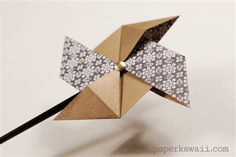 Traditional Origami - traditional origami pinwheel tutorial paper kawaii