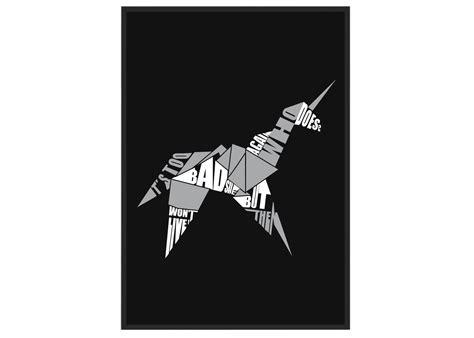 blade runner origami unicorn poster arcane store
