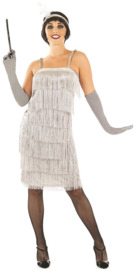 party outfits for women in their 20s 1920s silver flapper ladies fancy dress 20s gatsby womens