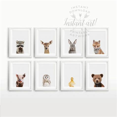 printable animal pictures for nursery baby woodland animals nursery art printable art by