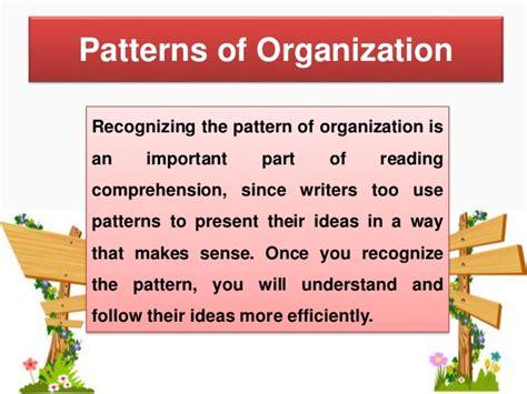 pattern of organization generalization and exle pattern of organization