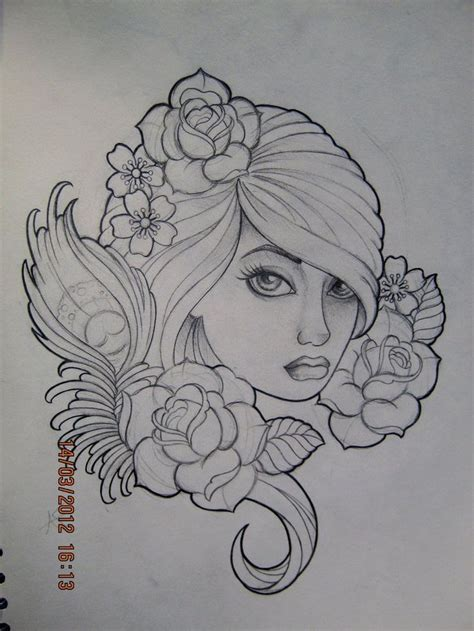 female vire tattoo designs design by frosttattoo d4stth2