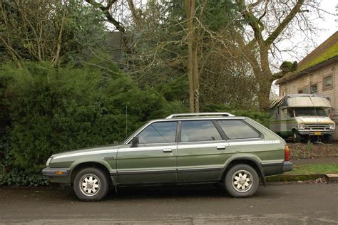 subaru station wagon green subaru leone i station wagon 1800 4wd am 80 hp