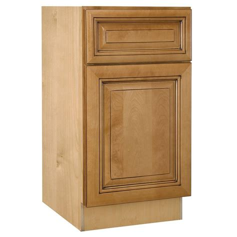 Single Kitchen Cabinet Home Decorators Collection Lewiston Assembled 12x34 5x24 In Single Door And Drawer Hinge Right