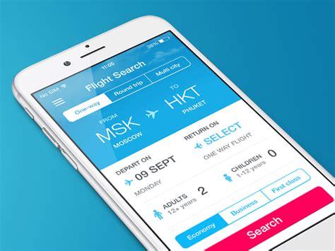 flight search app by mark dribbble flight search app date selection by bakanovskiy dribbble