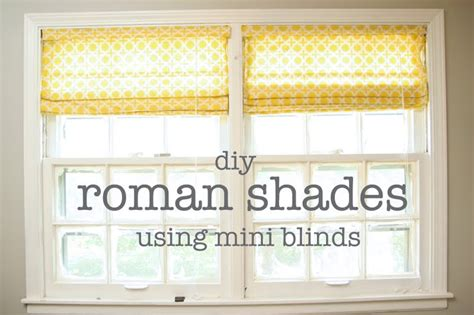 How To Make Shades Out Of Mini Blinds diy shades design dazzle