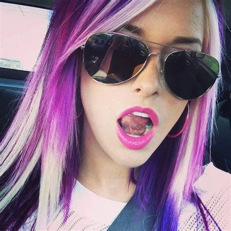 purple highlights in platinum blonde hair 128 best images about hair fun and funky on pinterest