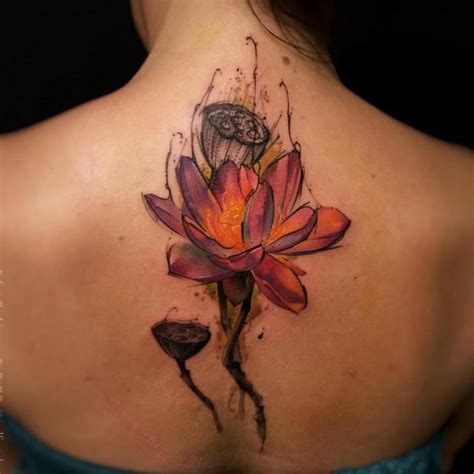 watercolor tattoo orange county lotus images designs
