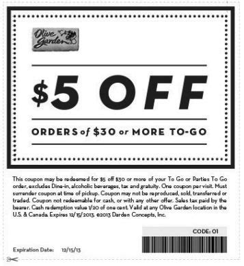 olive garden coupons to scan military service diners and olive gardens on pinterest