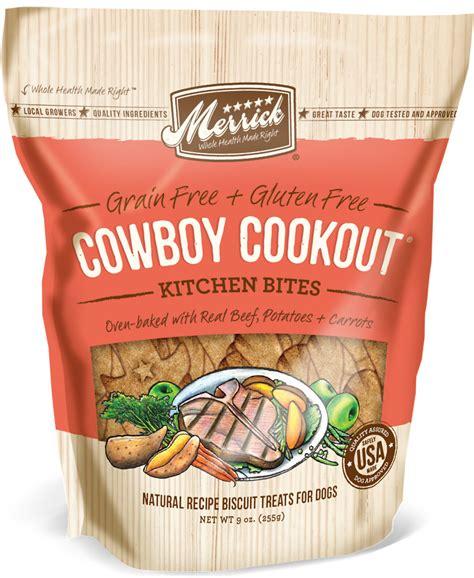 merrick grain free puppy merrick kitchen bites grain free biscuits cowboy cookout treats