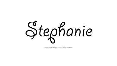 stephanie name tattoo design name designs