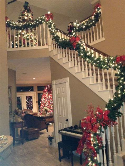 garland for staircase with lights 25 best ideas about staircase on